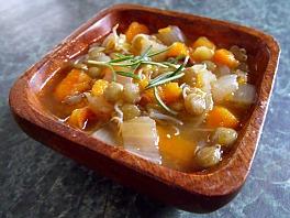 lentil sprout soup